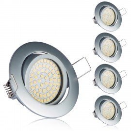 Led Einbauleuchte Chrome Matt Ultra Flach 3.5W