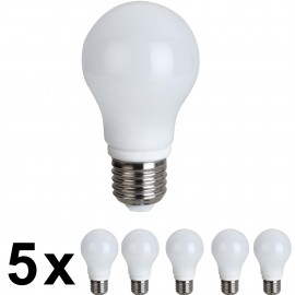 LED 5W E27 BIRNE 5er Pack